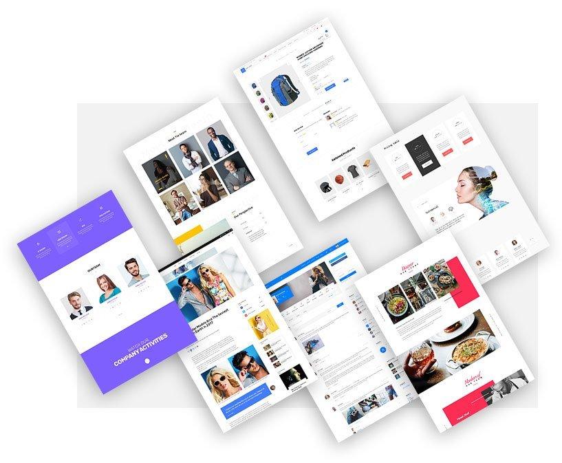 deep theme page layouts