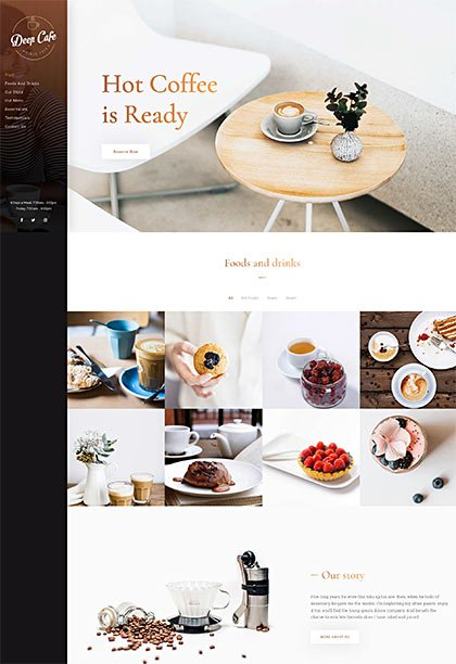 Cafe Demo - Premium WordPress Theme