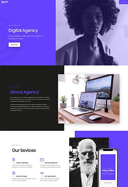 Edge One-Pager Demo - Premium WordPress Theme