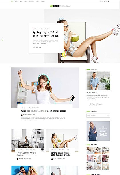 Personal Blog Demo - Premium WordPress Theme