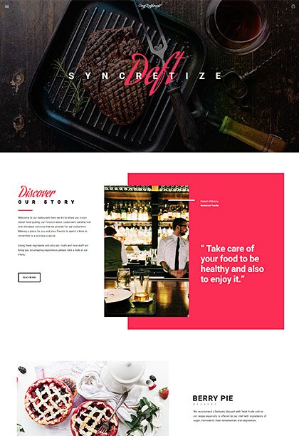 Restaurant Demo - Premium WordPress Theme