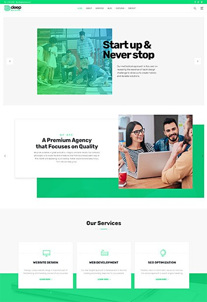 Web-Design Demo - Premium WordPress Theme