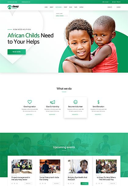Charity Demo - Premium WordPress Theme