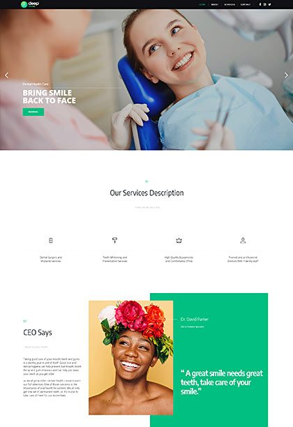 Dentist Demo - Premium WordPress Theme