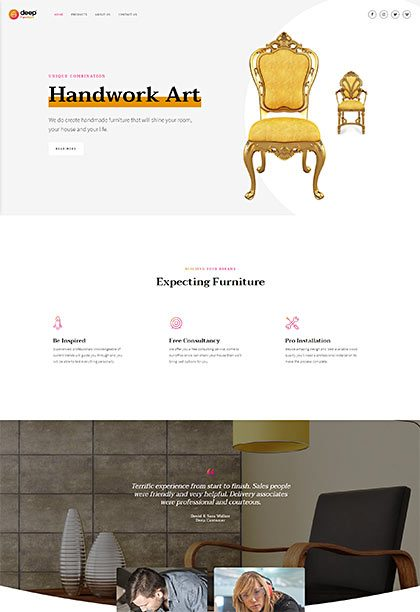 Furniture Demo - Premium WordPress Theme
