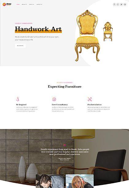 Furniture Demo - Premium WordPress Theme