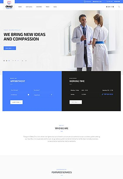 Health Demo - Premium WordPress Theme