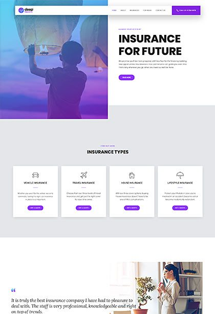 Insurance Demo - Premium WordPress Theme