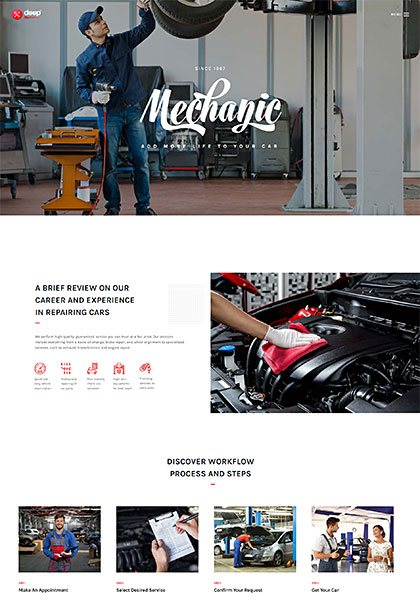 Mechanic Demo - Premium WordPress Theme
