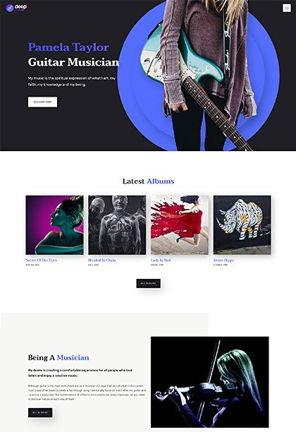 Musician Demo - Premium WordPress Theme