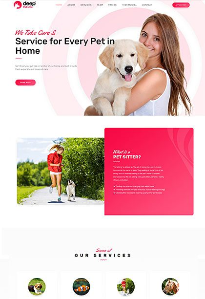 Pet Sitter Demo - Premium WordPress Theme