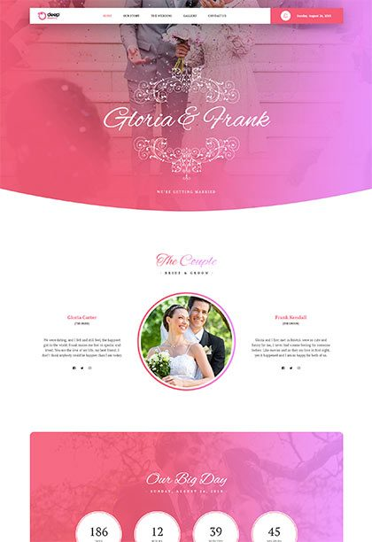 Wedding Demo - Premium WordPress Theme