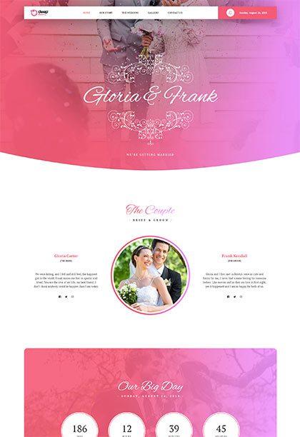 Wedding Demo - Premium WordPress Theme