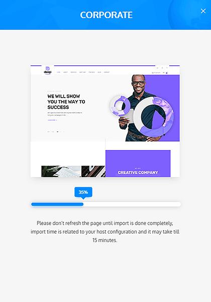 best wordpress theme - importer