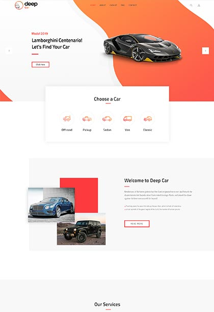 Car Demo - Premium WordPress Theme