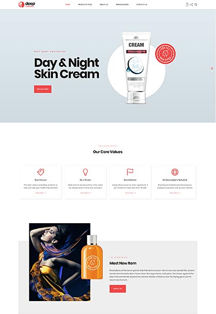 Cosmetic Demo - Premium WordPress Theme