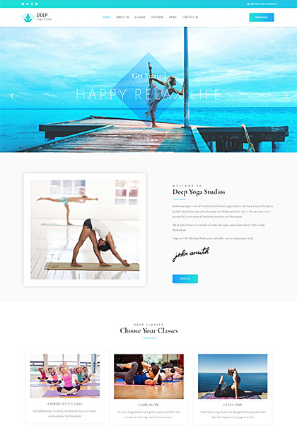 Yoga Demo - Premium WordPress Theme