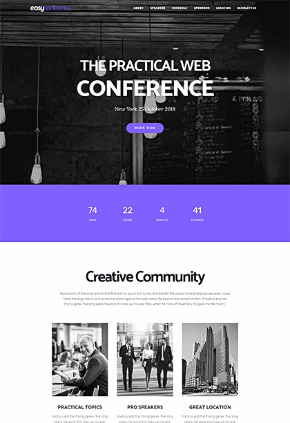 Easyconference Demo - Premium WordPress Theme