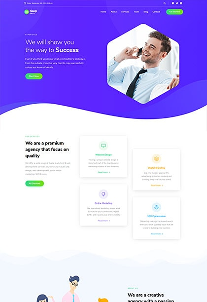 Modern Agency Demo - Premium WordPress Theme