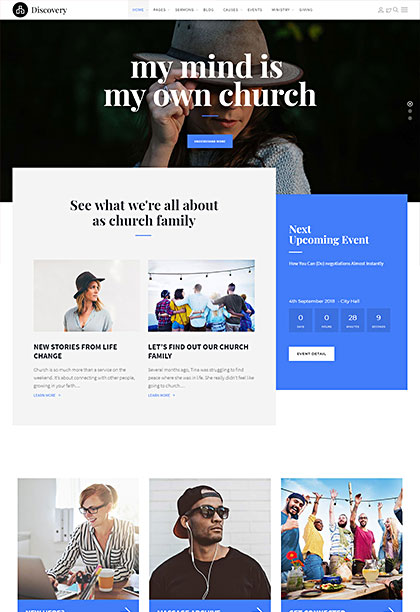 Discovery Demo - Premium WordPress Theme