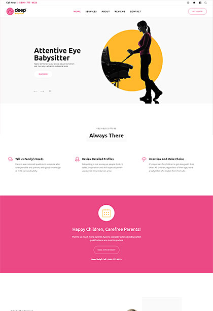 Babysitter Demo - Premium WordPress Theme
