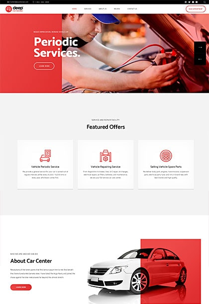 Car Services Demo - Premium WordPress Theme