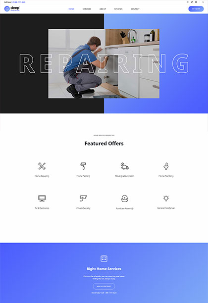 Home Services Demo - Premium WordPress Theme