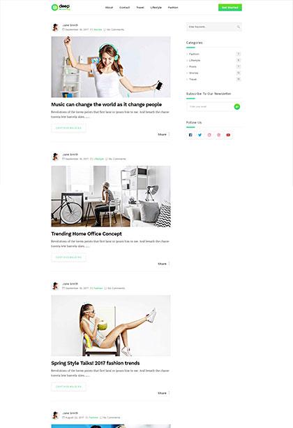 Minimal Blog Demo - Premium WordPress Theme