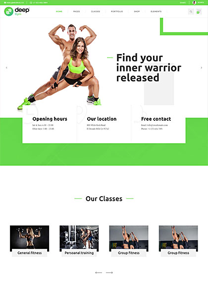 Gym Demo - Premium WordPress Theme
