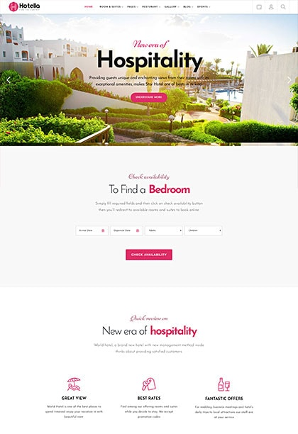 Hotella Athens Demo - Premium WordPress Theme