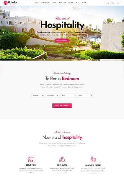Hotella Athens Demo - Premium WordPress Theme