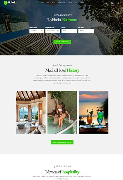 Hotella Madrid Demo - Premium WordPress Theme