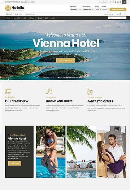 Hotella Vienna Demo - Premium WordPress Theme