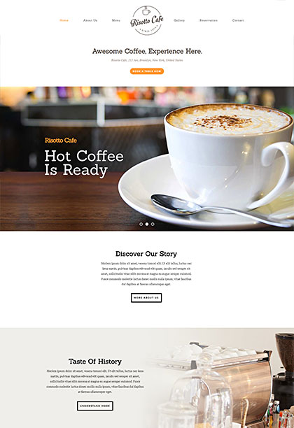Risotto Cafe Demo - Premium WordPress Theme