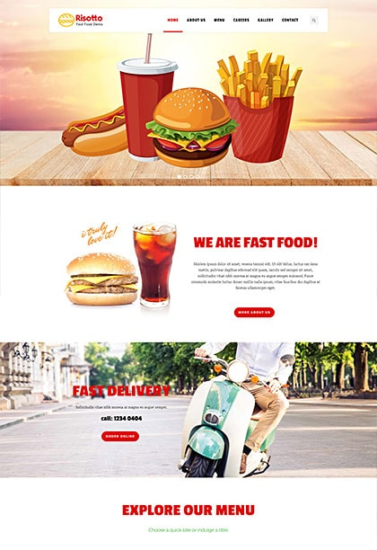 Risotto Fastfood Demo - Premium WordPress Theme