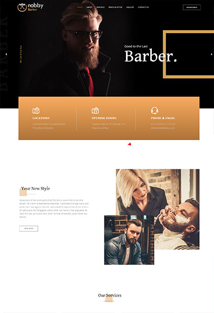 Barber Demo - Premium WordPress Theme