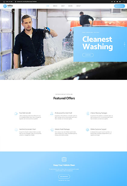 Carwash Demo - Premium WordPress Theme
