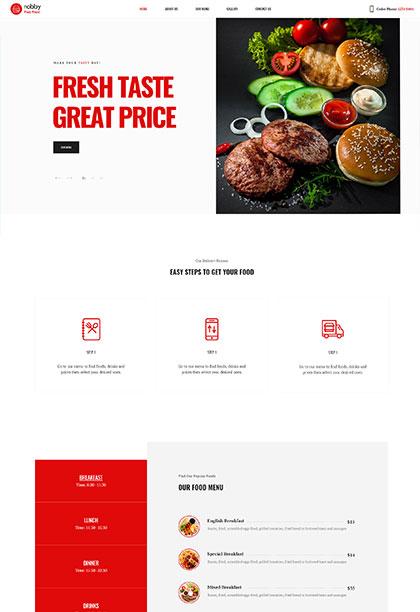 Fast food - Premium WordPress Theme