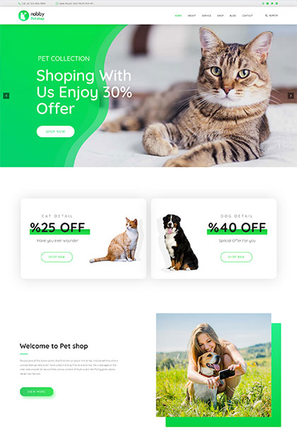 Petshop Demo - Premium WordPress Theme